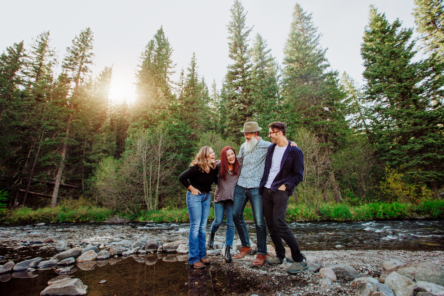 The Green Family braving the cold waters near Great Falls Montana. Their family pictures are always so perfect!