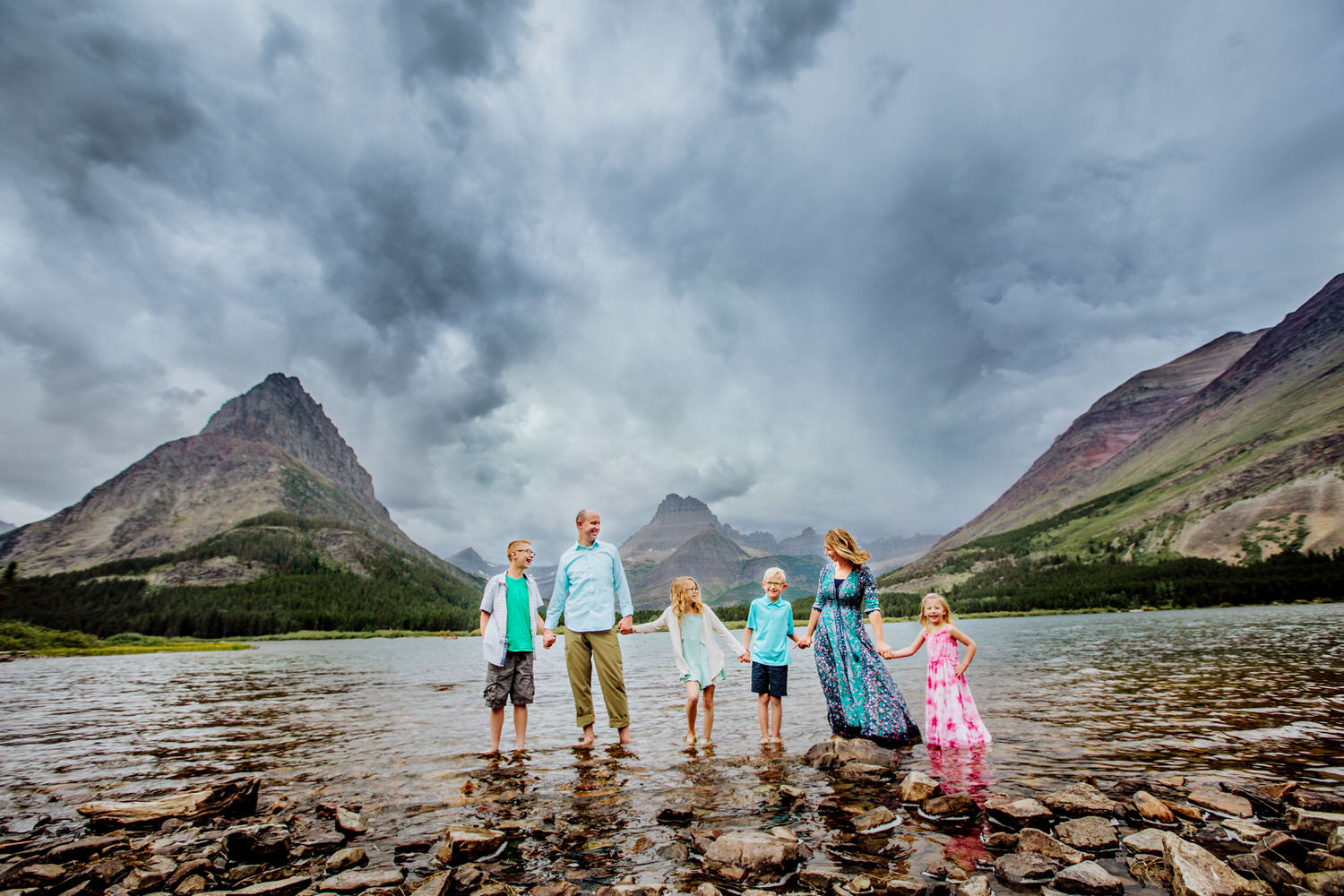 The Crist family from Great Falls Montana traveling to get their family pictures done.