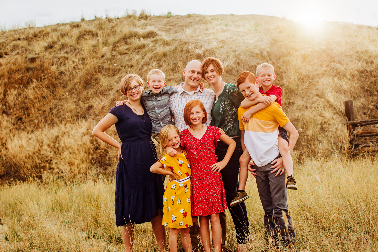 The Elliot Family getting their pictures taken in Great Falls Montana. Too many moments in this session to photograph all at once!