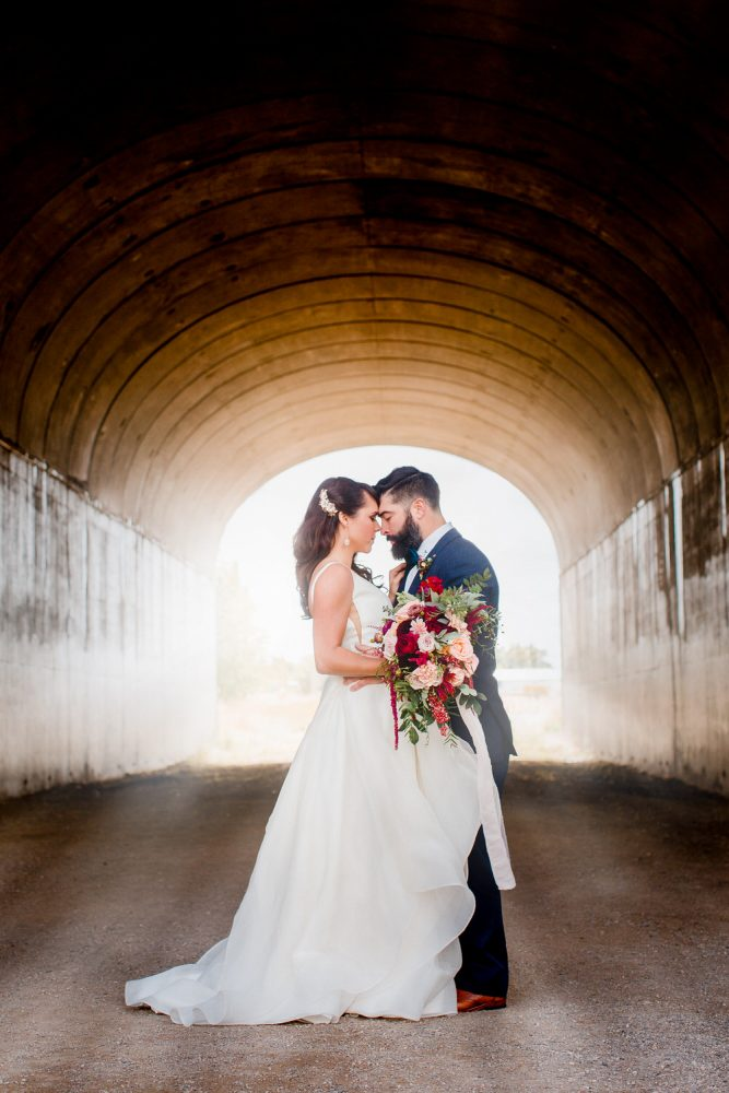 Bozeman Montana took a difference scene for Max and Alexis. Their wedding was photographed in an urban setting.