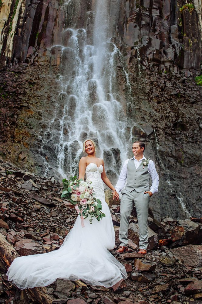 Mitch and Mccall was one of the easiest weddings I've photographed in Bozeman Montana. What a great waterfall photo!