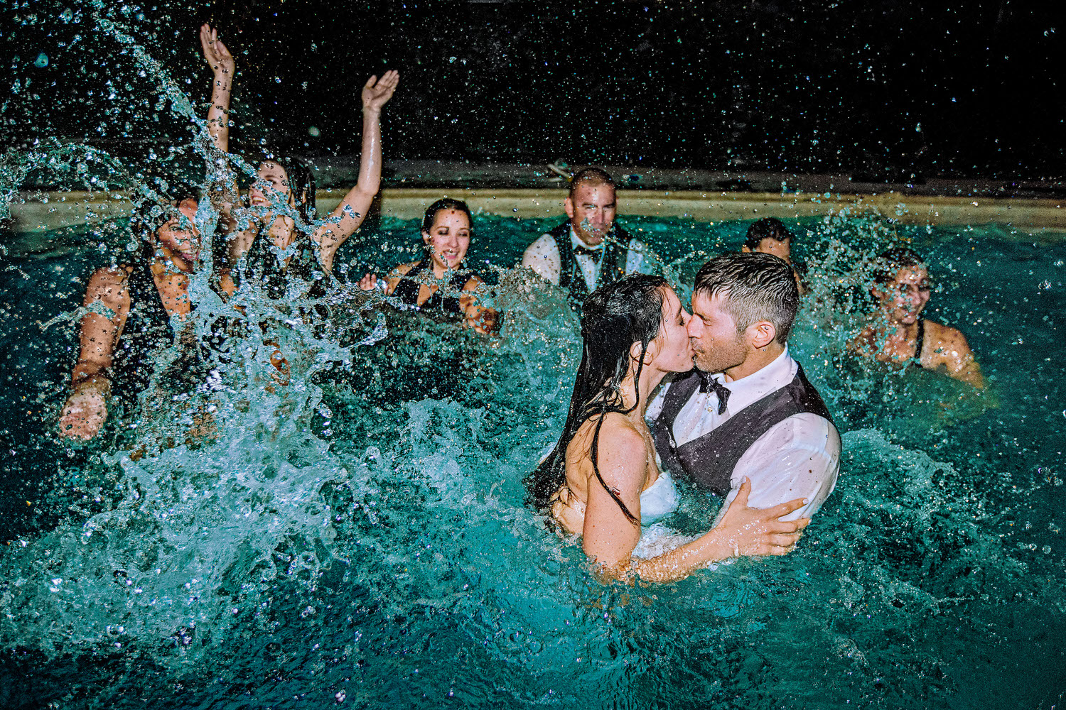 Being at the right place at the right time in Bozeman Montana has its perks. This wedding party went overboard resulting in some of the most unique photographs.